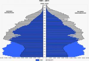 Pirámide vasca 1981-2011