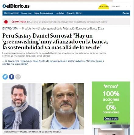 """""""Hay un 'greenwashing' muy afianzado en la banca"""