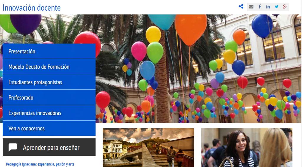 pantallazo web innovación