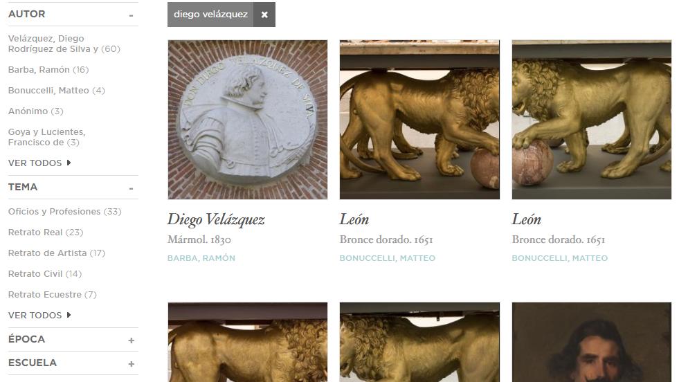 Navegando por el Museo del Prado en la web