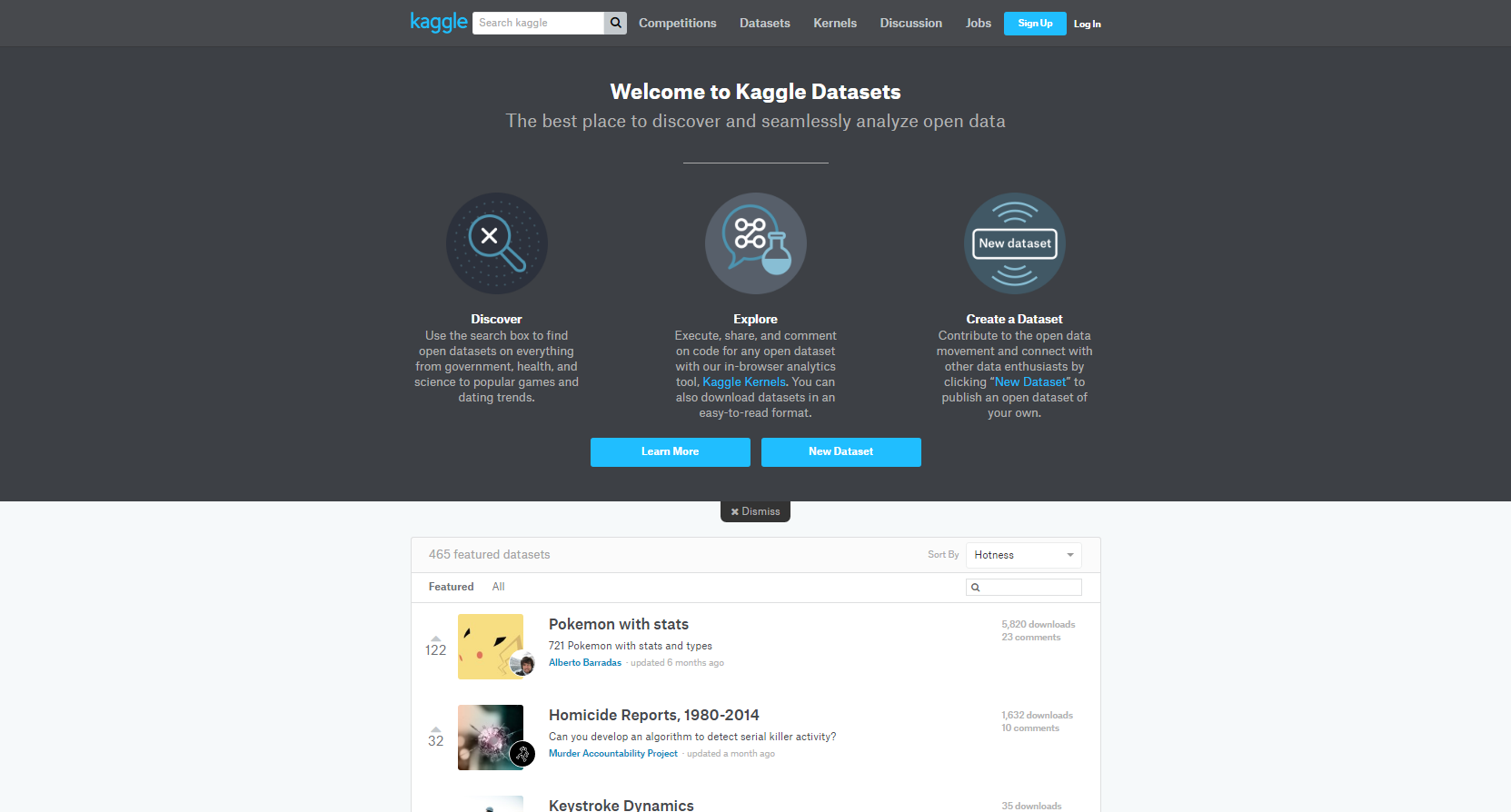 Datasets de Kaggle