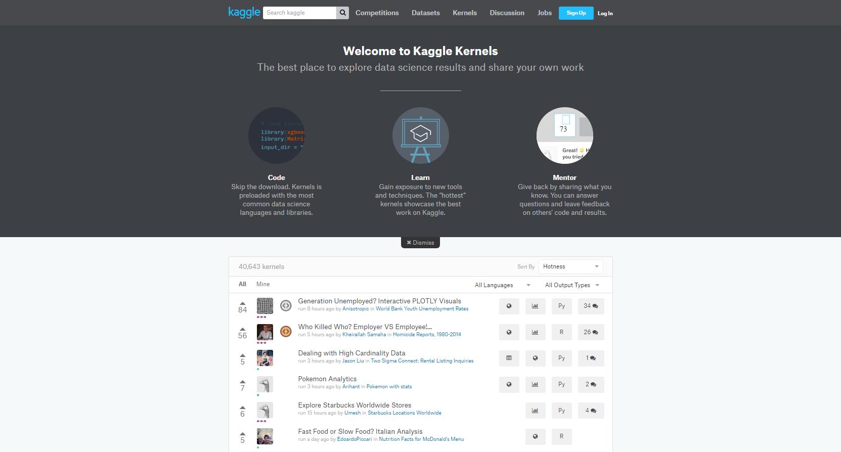 Kernels de Kaggle