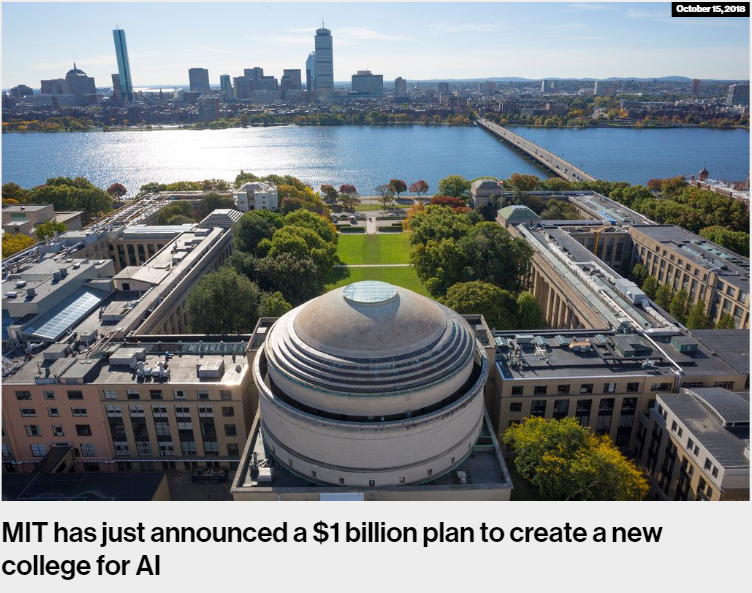 MIT has just announced a 1 billion plan to create a new college for AI MIT Technology Review