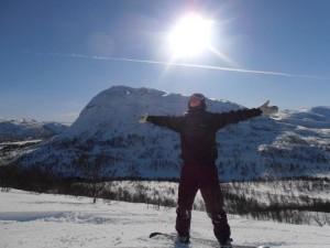Noruego con nieve