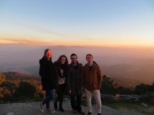 Con amigos, en Tui, Galicia.