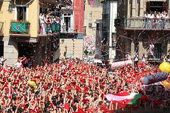 Chupinazo de San Fermín, el inicio de la fiesta en Pamplona