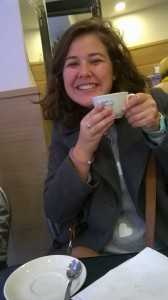 Ellie durante su viaje por Italia