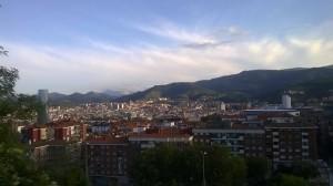 Ellie nos muestra la vista desde su casa en Bilbao.