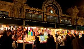 El mercado en la calle Bailén