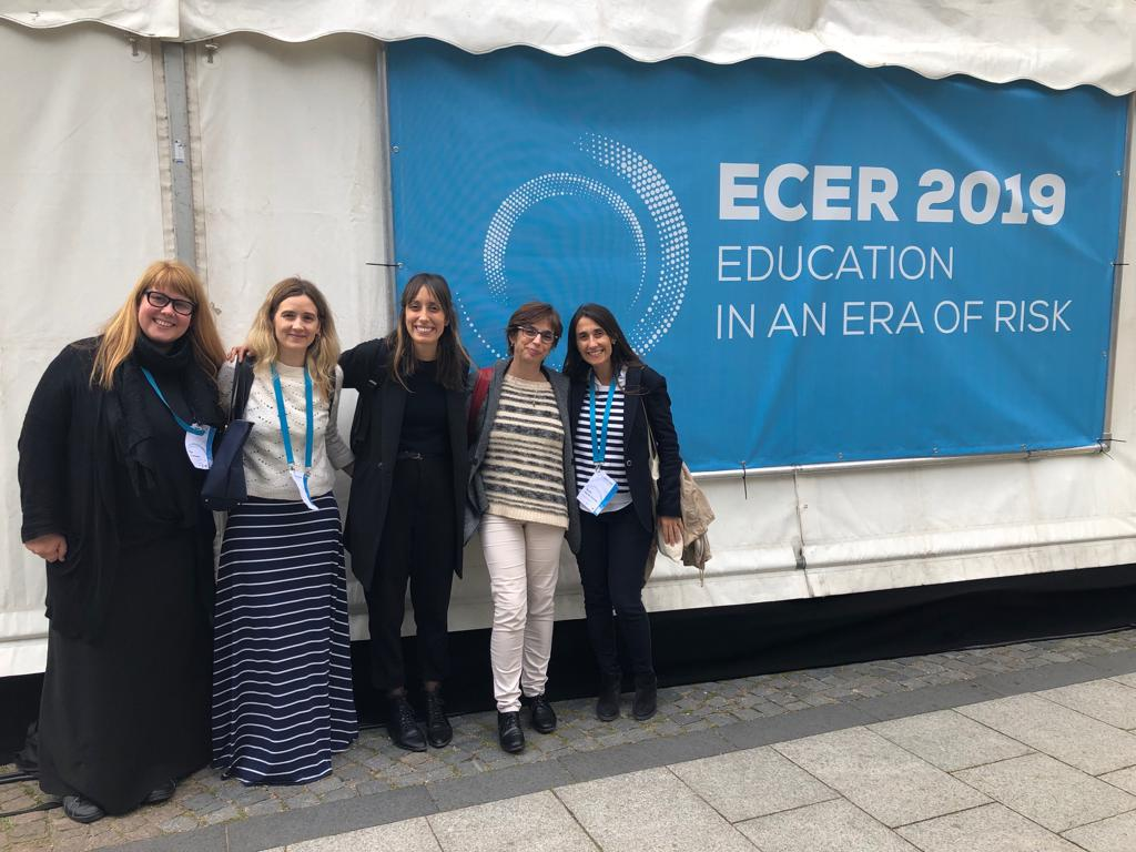 Miembros del equipo eDucaR en ECER 2019 (European Conference on Educational Research)
