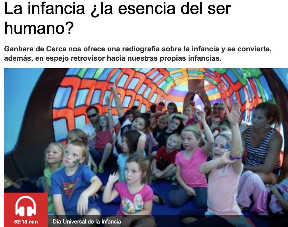 Andrea Khalfaoui participa en Radio Euskadi con motivo del Día Internacional de la Infancia
