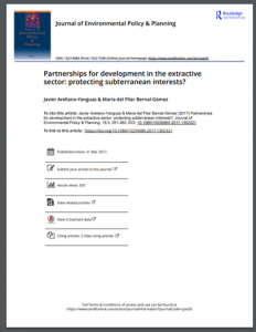 Partnerships for development in the extractive sector: protecting subterranean interests?