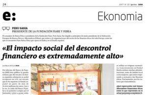 Entrevista a Peru Sasia sobre el Impacto financiero en el desarrollo sostenible