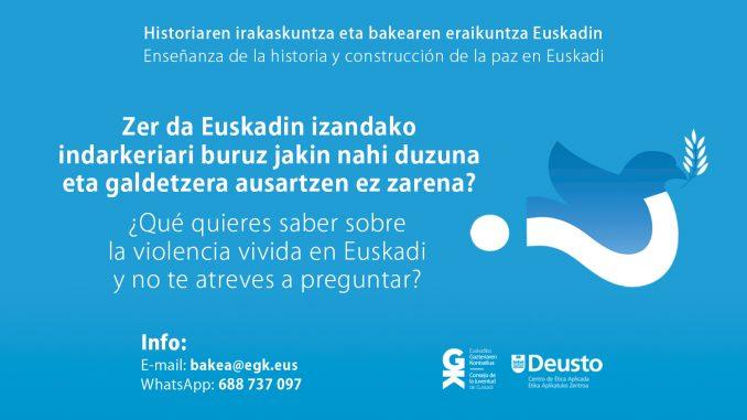 Comunidad de Aprendizaje Historia y Construcción de Paz en Euskadi