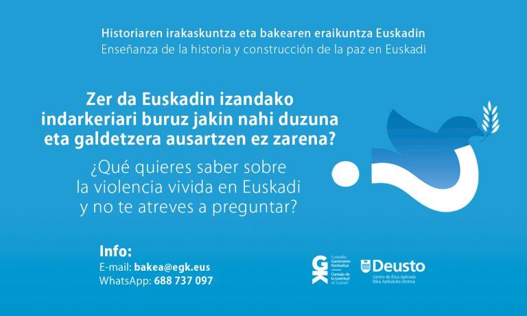 [:es]¿Qué se preguntan los jóvenes sobre la violencia vivida en Euskadi?[:en]Comunidad de Aprendizaje Historia y Construcción de Paz en Euskadi[:eu]Comunidad de Aprendizaje Historia y Construcción de Paz en Euskadi[:]