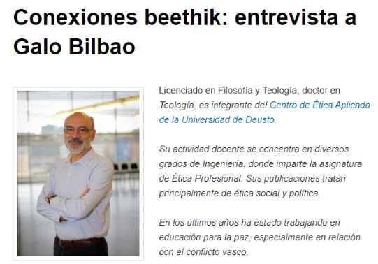 Etnrevista a Galo Bilbao
