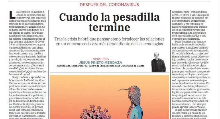 Análisis de Jesús Prieto Mendaza sobre el escenario posterior al Coronavirus