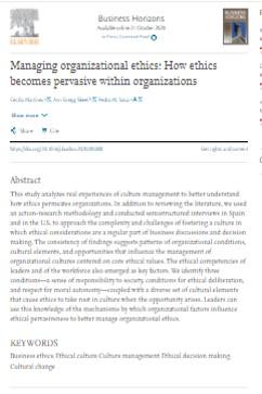Ética en las organizaciones