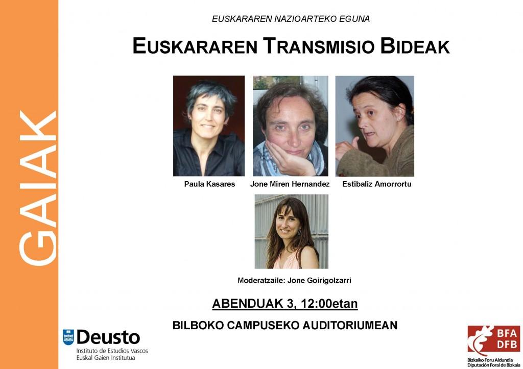 Euskararen Transmisio Bideak - Kartela 2015