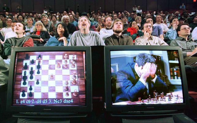 Partida entre Deep Blue y Kasparov > Fuente: El Diario