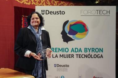 Intervención de la ganadora del Premio Ada Byron a la mujer tecnóloga 2017: Dña. Regina Llopis Rivas