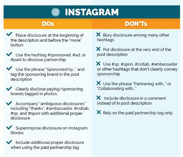 ley publicidad instagram influencer